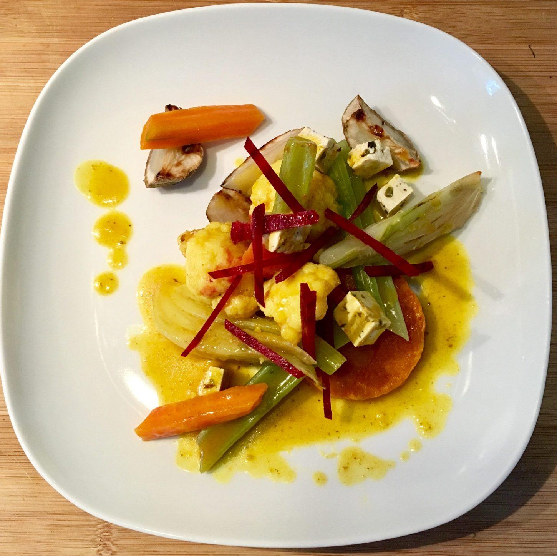 Recette #Hiver, cassolette de légumes & curcuma