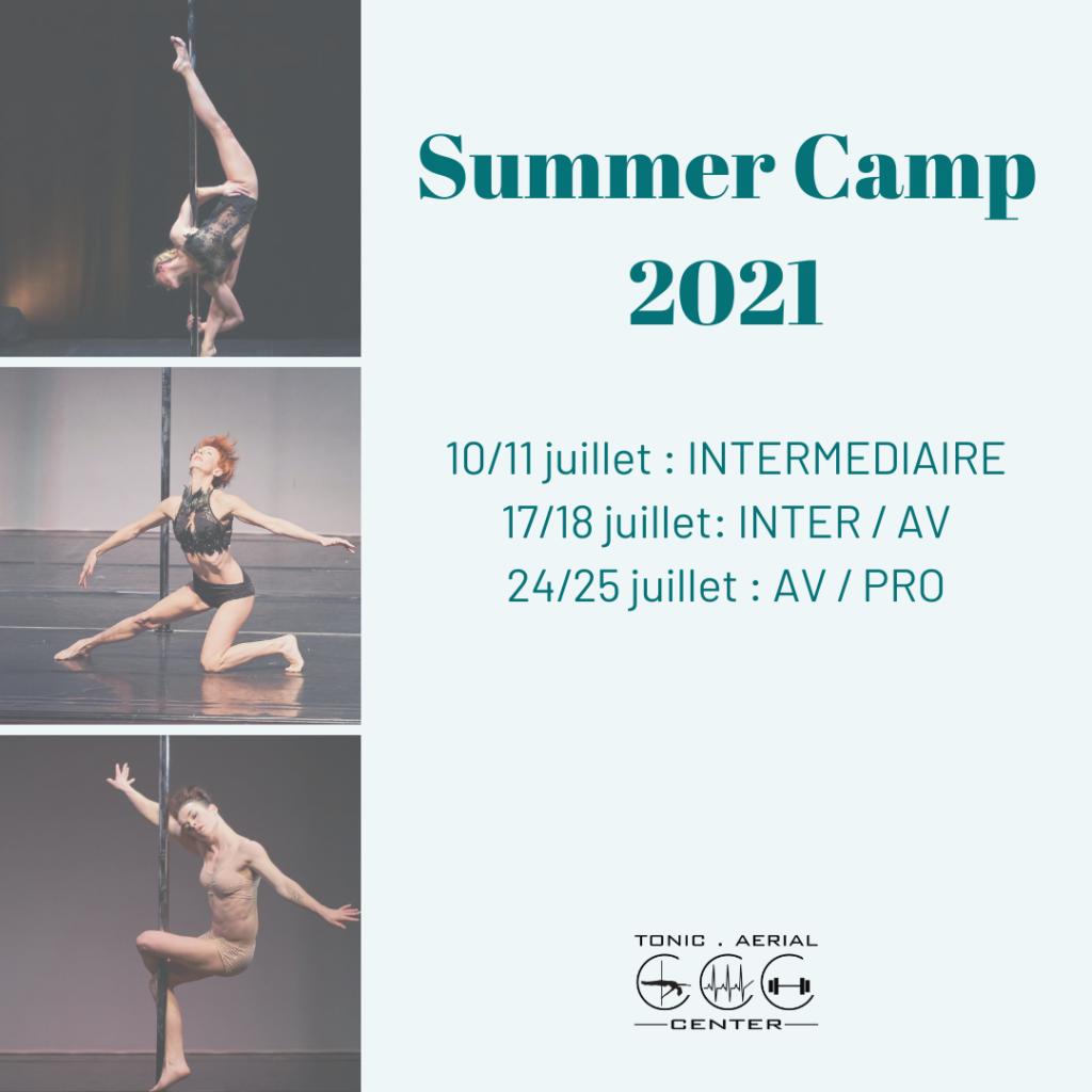 Summer Camp 2021, Nos stages de pole dance